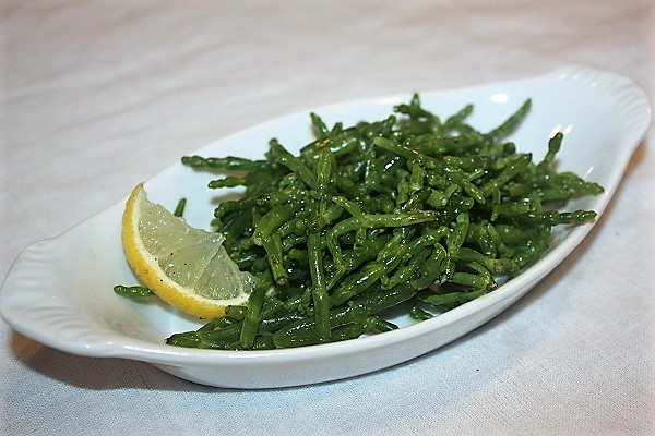Salicornia olio e limone