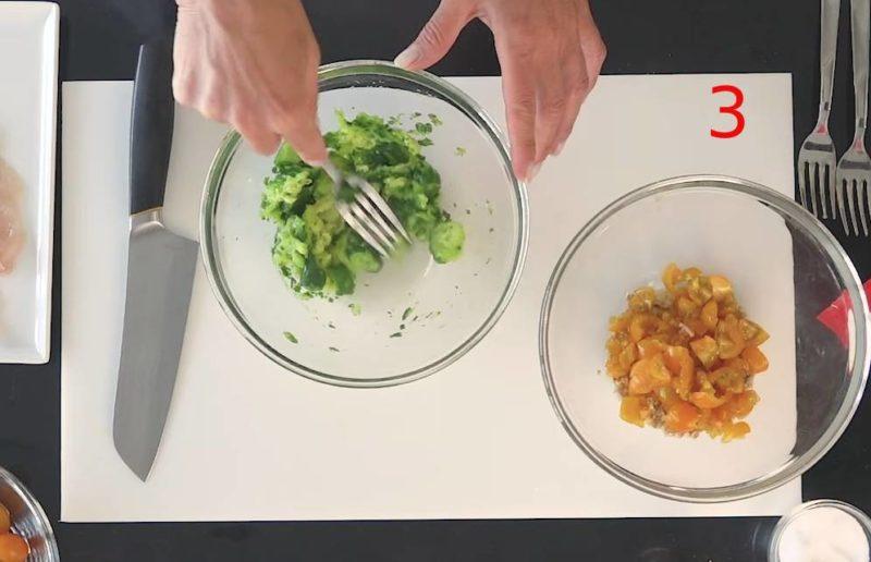 Rotolini ripieni di zucchine e pinoli tostati