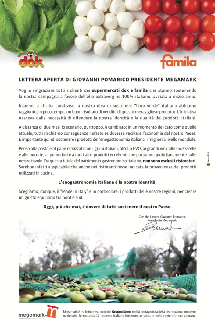 Lettera Giovanni Pomarico